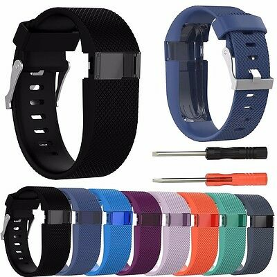 Silicone Replacement Wristband Watch Band Strap For Fitbit Charge HR with Tool
