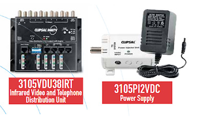 CLIPSAL 3105VDU38IRT StarServe Video and Telephone Distrubution and Power Supply