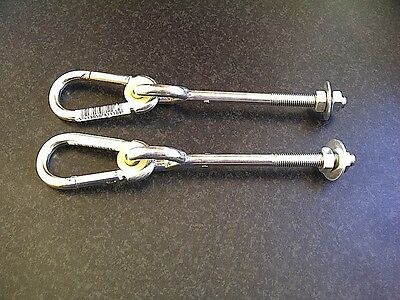 Swing Hooks 'through' (Pair) M12 To Hang Swing Accessories From-New- Freepost