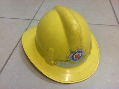 CFA old firefighters helmet well worn but all intact.  free post.