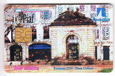 Piaf Parking Carte / Card .. 200U Rochefort Sc7 Porte 07/03 1.000Ex N° Chip/puce