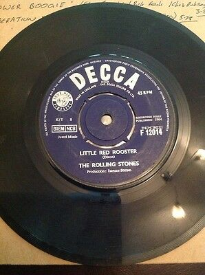 """Rolling Stones 7"""" Single Little Red Rooster / Off The Hook UK Decca"""