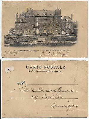 EUROPE EARLY VINTAGE POSTCARD - FRANCE TO ARGENTINA - JULY 16th 1902