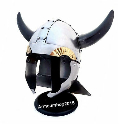 Viking Warrior Helmet with Real Horns - Medieval Costume Armour