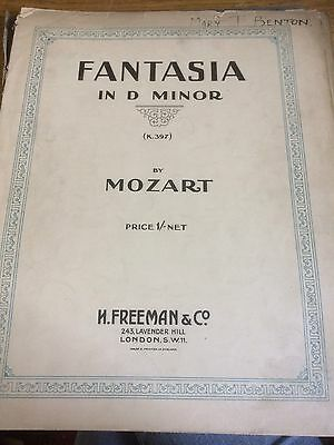 Fantasia In D Minor By Mozart Sheet Music Piano