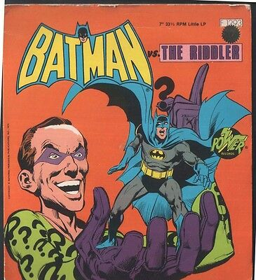 BATMAN vs. The Riddler: If Music Be The Food Of Death 1975 Power Records