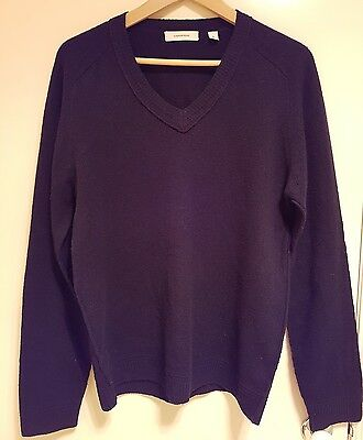 Country Road navy wool v neck jumper size m