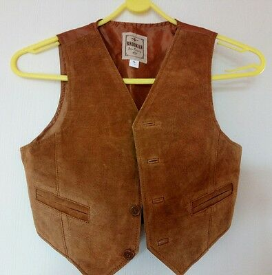 Childs Leather Waistcoat