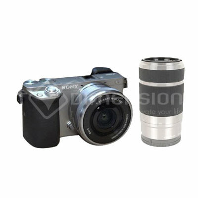 Sony ILCE-6000 Alpha a6000 6000Y Silver +16-50mm +55-210mm Stock in EU Nouveau