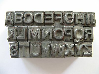 24pt ALPHABET-San Serif-'Lead' TYPE-LETTERPRESS/BOOKBINDING/Home PRINTING/Stamps