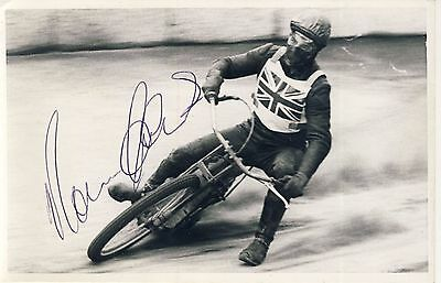 Speedway Photograph-Unknown England Rider Autographed  (SP457)
