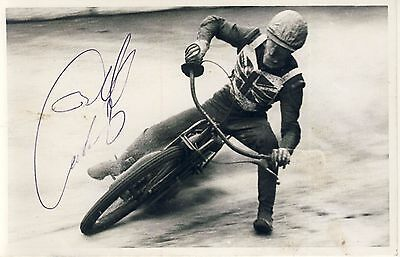 Speedway Photograph-Unknown England Rider Autographed  (SP458)