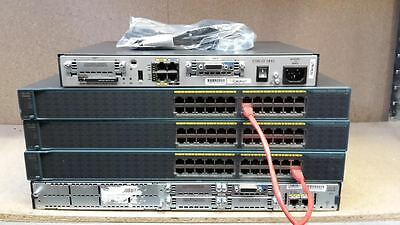 Cisco Ccna Ccnp Lab Three 2960-24-S 1841 2811 256Mb/64  Router Switch Ideal Lab