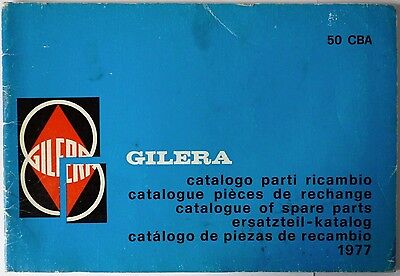 Gilera 50 CBA Spare Parts List - 1977Italian, French, English, German, Spanish