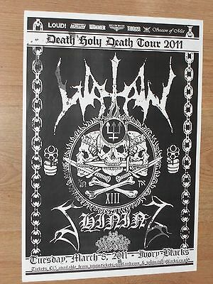 Watain - Glasgow march 2011 tour concert gig poster