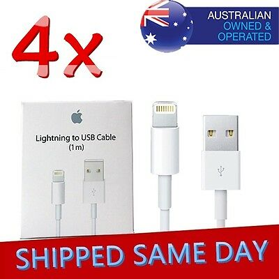 4 X Lightning Data Cables Charger Compatible Apple iPhone Cable 5 S C 6 7 + iPad