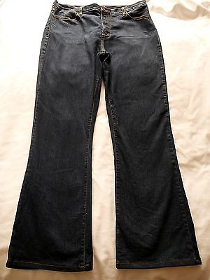NOT YOUR DAUGHTER'S Dark Blue JEANS Size US16 18 Bootleg Bootcut Stretch Denim