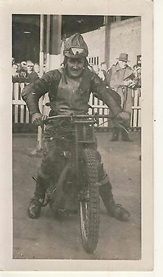 Speedway Photograph-Lloyd Goffe Harringay  late 40s (SP599)
