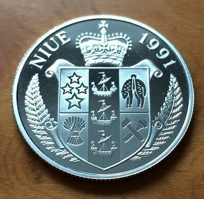 Silver Proof 1991 Niue World Cup $5 Coin