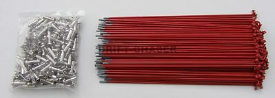 36 Piece Red Bicycle Spokes for 20 inch Bmx Bike Wheels, 14g x 184mm Long