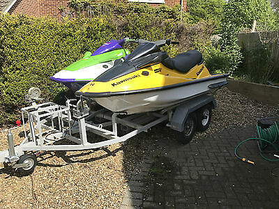 Kawasaki Jet-Ski 1100/900 ON TWIN TRAILER, PLEASE READ FULL LISTING