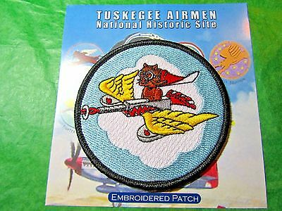 TUSKEGEE AIRMEN N H S 301st FIGHTER SQUADRON EMBROIDERED PATCH ALABAMA (465)