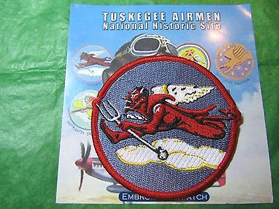 TUSKEGEE AIRMAN 302nd FIGHTER SQUADRON FLYING DEVIL PATCH TRAVEL SOUVENIR (15)