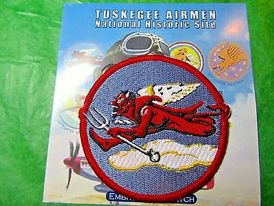 TUSKEGEE AIRMAN 302nd FIGHTER SQUADRON FLYING DEVIL PATCH TRAVEL SOUVENIR (451)