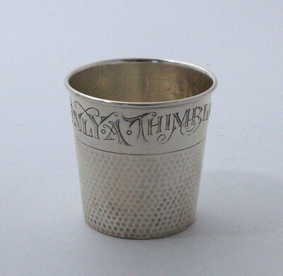 Sterling Silver Shot Cup Jigger Only A Thimble Full
