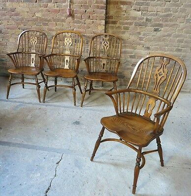 2x Windsor chair Stühle, Wheelback chairs Landhaus