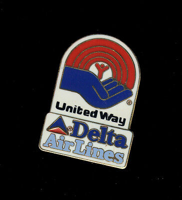 Delta Airlines pin United way