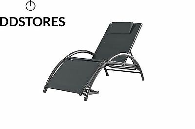 Vivere DKSUN BI Dockside Sun Lounger Black Ink 170 x 67 84 cm