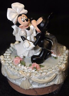 Mickey and Minnie Wedding Candle Jar Topper - New & HTF