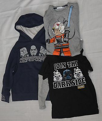 Boys hoodie jumper angry birds star wars tops size 8