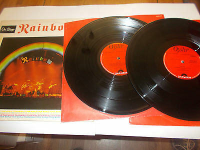 Rainbow X2 Lp On Stage 1977 Oyster Label Polydor Records