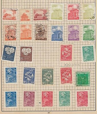 A Selection Of Stamps China / Taiwan  From Old Album Wk10 Page 21