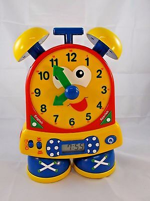 """Learning Resources Time Clock Teaching Quiz 10.5"""" English Spanish"""