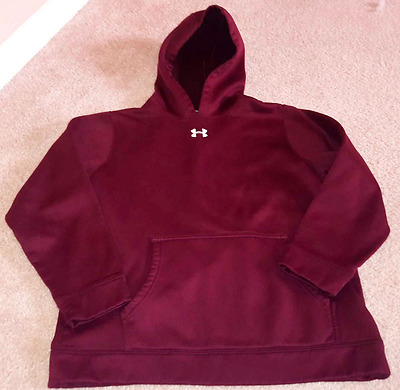UNDER ARMOUR Maroon LS Hoodie Pullover YLG Youth Large Boy's Girl's L