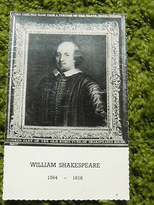 William Shakespeare Valentines Postcard #16517