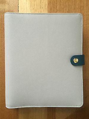 Kikki K Mist Blue Large Textured Leather Personal Planner BRAND NEW