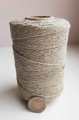 1 /16 in 109 yd twisted LINEN TWINE 100 % Natural linen for Gardening...