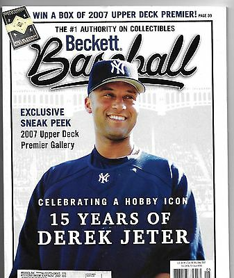Lot of (12) Beckett Baseball & Baseball Card Plus Prices Guides from 2006 & 2007