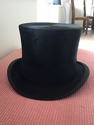Rare Antique Silk Top Hat, size: 7&1/4, immaculate. Hand-delivered before Ascot.