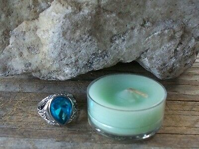 Green Money Candle & LUCKY Ring 8 Good Fortune Haunted Desires No Doll