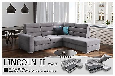 - Lincoln II - Brand New Corner Sofa Bed Sleep Function more than 4 seater