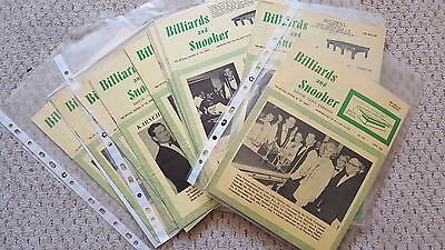 45 Vintage & Rare Snooker and Billiards Magazines