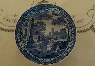 Antique Vintage Spode Copeland Blue & White Italian Pattern Fruit Bowl - 1910