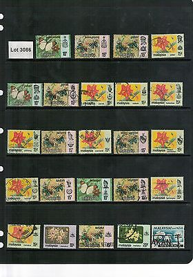 Lot 3086 - Malayan States – selection of 24 used stamps