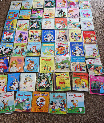 Little Golden Books  LOT (54)  Kids Beginners Book Set with some Disney