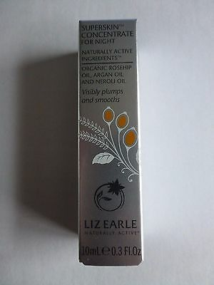 Liz Earle Superskin Concentrate for Night 10ml Rollerball Brand new and sealed
